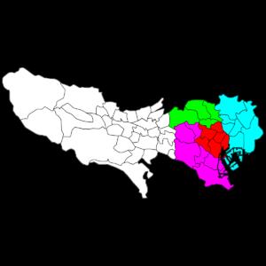 東京23区色分け地図