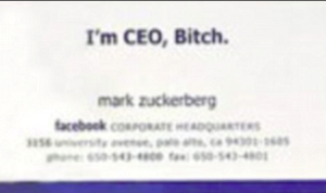 Bill Gates to Mark Zurkerberg s  I m CEO  Bitch   Early business cards of the world s most famous people   Daily Mail Online