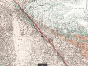 地理院地図_立川活断層帯